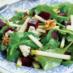Beet, Apple, and Walnut Salad