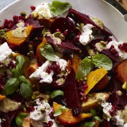 Beet & Burrata Salad with Pistachio Vinaigrette