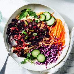 Beet Larb with Quinoa