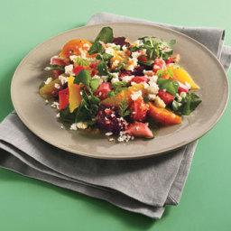 Beet, Rhubarb, and Orange Salad