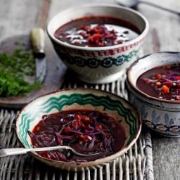 Beetroot and tomato borscht