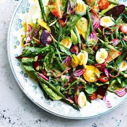 Beetroot nicoise salad