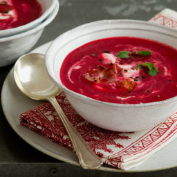 Beetroot soup with sour cream recipe