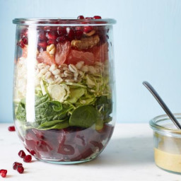 Beets and Brussels Sprouts Salad-in-a-Jar