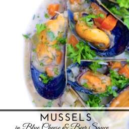 Belgian Mussels with Blue Cheese and Tripel Beer