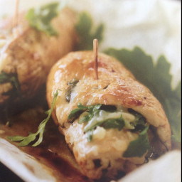 BellaVitano Merlot and arugula-stuffed chicken breasts