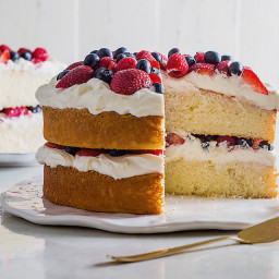 Berries and Cream Layer Cake