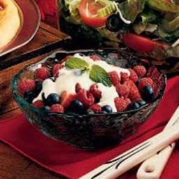 Berries in Custard Sauce 2