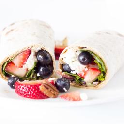 Berry Balsamic Salad Wraps Recipe