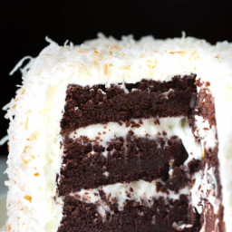 Best Ever Coconut Cream Chocolate Cake