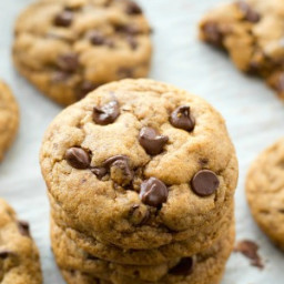 Best-Ever Thick and Chewy Coconut Oil Chocolate Chip Cookies