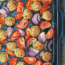BEST Italian Baked Chicken Meatballs