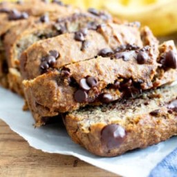 Best Moist Chocolate Chip Banana Bread Recipe (Vegan, Gluten-Free, One Bowl