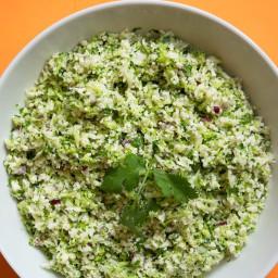 Best Raw Cauliflower and Broccoli Salad