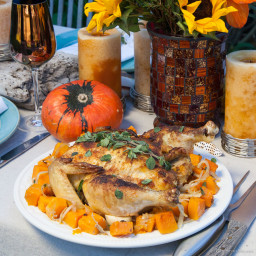 Best Roasted Chicken with Curry and Paprika