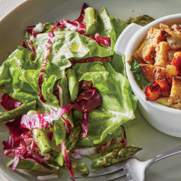 Bibb, Radicchio, and Asparagus Salad