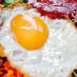 Bibimbap (Korean Rice With Mixed Vegetables) Recipe