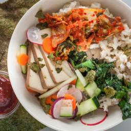 Bibimbap With Kimchi and Smoked Tofu