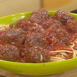 Big Beef Meatballs with Bucatini