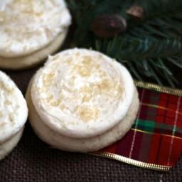 Big Soft Frosted Eggnog Sugar Cookies