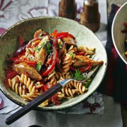Bill's spicy sausage pasta