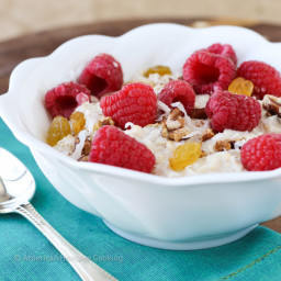 Bircher Muesli with Honey and Cinnamon