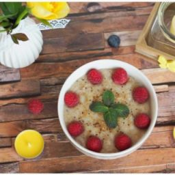 Birnen-Zimt Porridge zum Frühstück