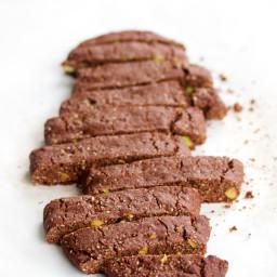 Biscotti de chocolate y pistache