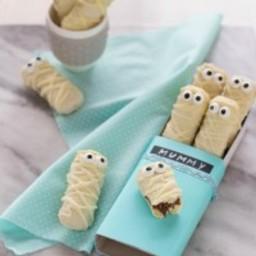 Biscotti Halloween: Mummie di pavesini