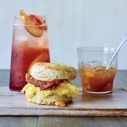 Biscuit Breakfast Sandwiches with Peach-Ginger Jam