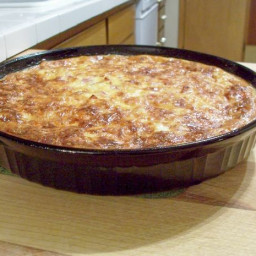 Bisquick Quiche with Ham and Parmesan Cheese