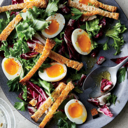 Bitter Greens with Soft-Boiled Eggs