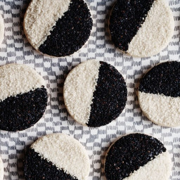 Black and White Sesame Seed Cookies