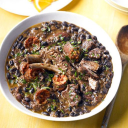 Black bean and meat stew