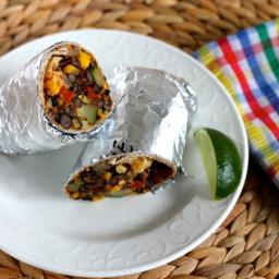 black bean and quinoa freezer burritos