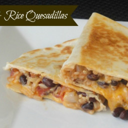 Black Bean and Rice Quesadillas: The ULTIMATE Pantry Meal!
