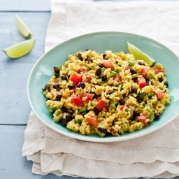 Black-Bean and Yellow-Rice Salad
