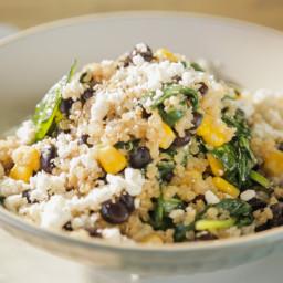Black Bean-Feta Quinoa Bowl