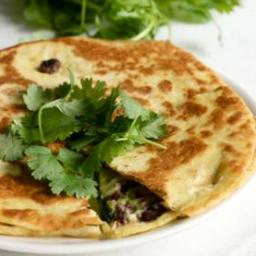Black Bean Goat Cheese Quesadillas with Guacamole