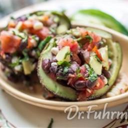 Black Bean Salad in Avocado Baskets