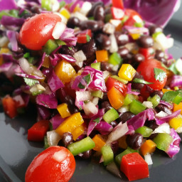 Black Beans and Bell Pepper Salad