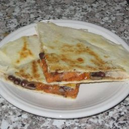Black Bean/sweet Potato Quesadillas