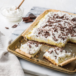 Black Bottom Coconut Cream Pie
