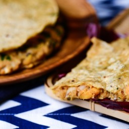 Black-Eyed Pea and Sweet Potato Quesadillas