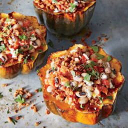 Black-Eyed Pea-Stuffed Acorn Squash
