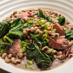 Black-Eyed Peas With Ham Hock and Collards