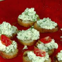 Black Pepper-Basil Farmer's Cheese Bruschetta with Tomato