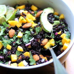 Black Rice Avocado & Mango Salad