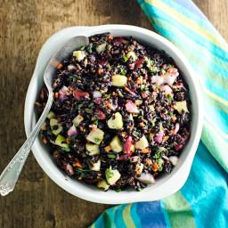 Black Rice Veggie Salad