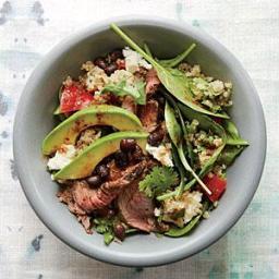 Black Bean Quinoa Salad with Chipotle Steak